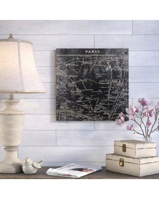 """Ophelia & Co. 'Paris Map I' Graphic Art Print on Wrapped Canvas OPCO4454 Size: 30"""" H x 30"""" W"""