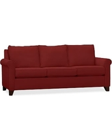 Cameron Roll Deluxe Sleeper Sofa Upholstered Deluxe Sleeper Sofa, Polyester Wrapped Cushions, Twill Sierra Red