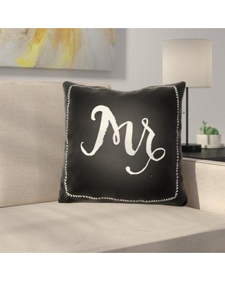 """Le Prise Bowden Indoor/Outdoor Throw Pillow W001411732 Size: 20"""" H x 20"""" W x 4"""" D Color: Black"""