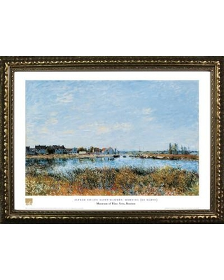 Buy Art For Less 'Museum Masters 'Saint-Mammes: Morning (Le Matin)' by Alfred Sisley Framed Painting Print IF MFA94G