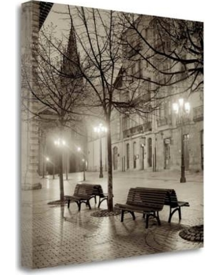 "Tangletown Fine Art 'Oviedo Cathedral y Bancs - 2' Photographic Print on Wrapped Canvas ICABSP5-2020c Size: 25"" H x 25"" W"
