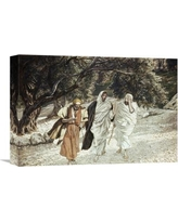 """Global Gallery 'Disciples on the Road to Emmaus' by James Tissot Painting Print on Wrapped Canvas GCS-280288 Size: 11.01"""" H x 16"""" W x 1.5"""" D"""
