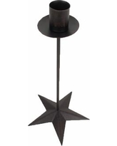 """Craft Outlet Star Taper Candlestick T1106 / T1107 Size: 10"""" H x 5"""" W x 5"""" D"""