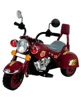 Ride on Toy, 3 Wheel Trike Chopper Motorcycle for Kids by Hey! Play! - Battery Powered Ride on Toys for Boys and Girls, Toddler and Up - Maroon