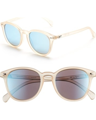 5c36bd5a93 Women s Le Specs  Bandwagon  51Mm Sunglasses - Raw Sugar  Ice Blue Mirror
