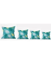 """East Urban Home Feather Shapes Polyester Throw Pillow EHME7738 Size: 18"""" H x 18"""" W x 5"""" D"""