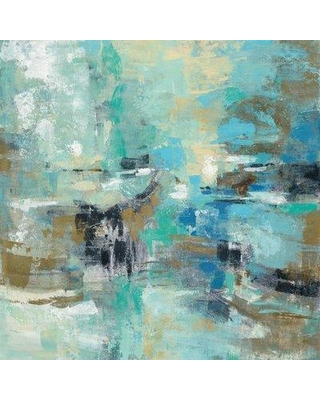 """East Urban Home 'Fjord Reflections' Painting Print on Canvas ESUR2057 Size: 37"""" H x 37"""" W x 0.75"""" D"""
