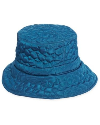 Scala™ Women's Quilted Big Brim Rain Hat in Teal