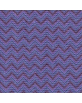 East Urban Home Chevron Wool Blue Area Rug X111360316 Rug Size: Square 3'