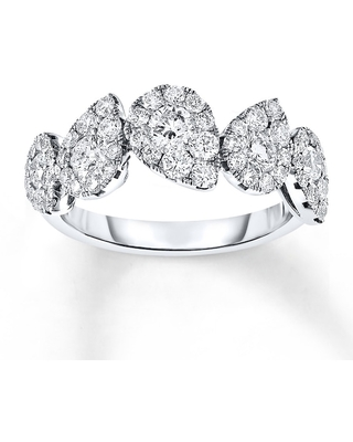 Diamond Ring 1 ct tw Round-cut 14K White Gold