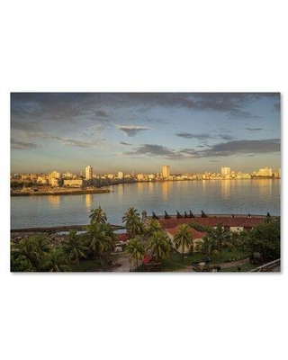"""Trademark Fine Art 'Cityscape 2' Photographic Print on Wrapped Canvas, Canvas & Fabric in Brown, Size 12"""" H x 19"""" W 