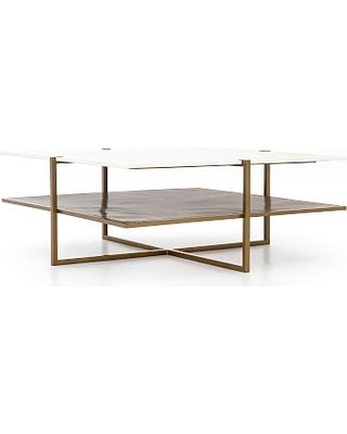 Hyla Marble Coffee Table Brass