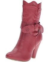 Bettie Page Women's Bp403-lamour Boot, Red, 6 M US