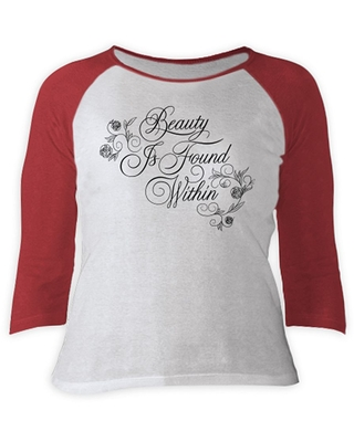 Beauty and the Beast 3/4 Sleeve Raglan Tee for Women Live Action Film Customizable Official shopDisney