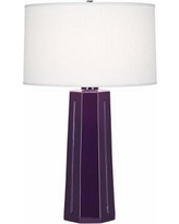 Robert Abbey Mason Amethyst Glazed Table Lamp
