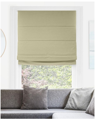 Chicology Del Mar Ready-Made Sandcastle Cordless Blackout Privacy Fabric Roman Shade 36 in. W x 64 in. L, Del Mar Sandcastle (Blackout)