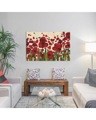 """East Urban Home Ascending Flowers Painting Print on Wrapped Canvas ESHM6938 Size: 8"""" H x 12"""" W x 0.75"""" D"""