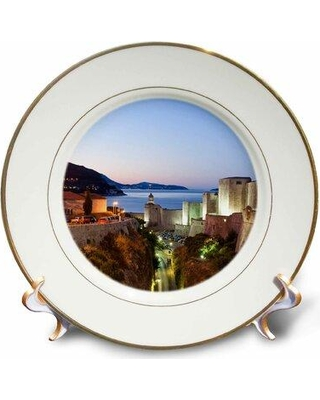 East Urban Home Walled City Dubrovnik Adriatic Sea Croatia Stuart Westmorland Porcelain Decorative Plate W001304488