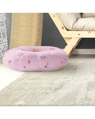 """Kavka Floor Pillow Color: Pink Size: 30"""" H x 30"""" W"""
