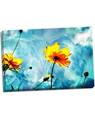 """Ebern Designs 'Reaching for the Sun III' Graphic Art Print BF114236 Size: 16"""" H x 24"""" W x 0.75"""" D Format: Wrapped Canvas"""