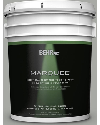 BEHR MARQUEE 5 gal. #PPU25-15 Flipper Semi-Gloss Enamel Exterior Paint and Primer in One