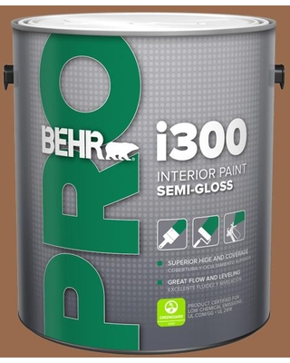 Shop Behr Pro 1 Gal S230 7 Toasted Bagel Semi Gloss Interior Paint