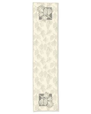 """Heritage Lace Woodland 14"""" X 60"""" Table Runner In Ecru"""