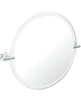 Moen Iso 22 in. x 26 in. Framless Pivoting Wall Mirror in Chrome (Grey)