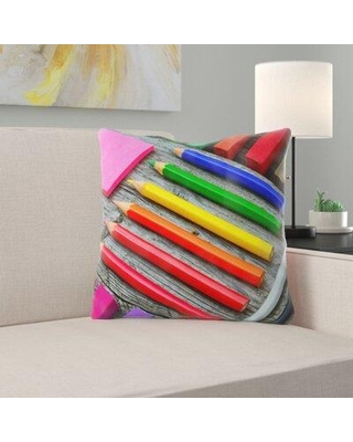 Ebern Designs Dariel School Times Throw Pillow W001294131 Cover Material: Microsuede Location: Indoor