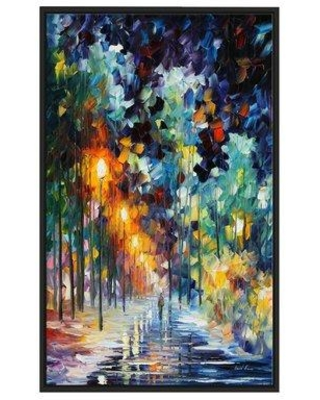 """Winston Porter 'Romantic Winter' Framed Oil Painting Print on Wrapped Canvas BI023009 Size: 51.5"""" H x 31.5"""" W x 2"""" D"""