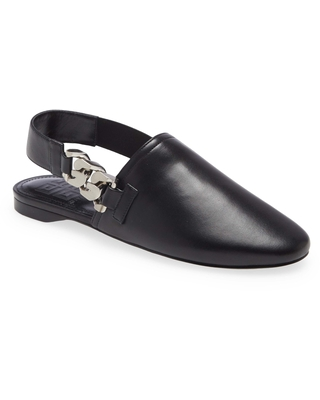 Givenchy G Chain Slingback Mule, Size 8.5Us in Black at Nordstrom