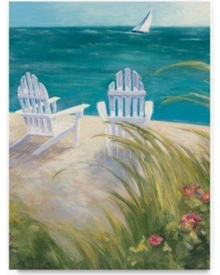 """Highland Dunes 'Regatta I Crop' Acrylic Painting Print on Wrapped Canvas HGLN1775 Size: 47"""" H x 35"""" W"""