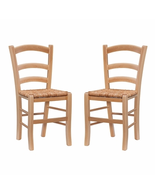 Wood Serafina Dining Chair Set of 2: Natural by World Market