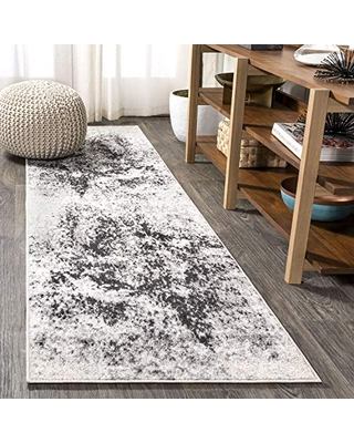 JONATHAN Y Dune Modern Abstract Cream/Gray 2 ft. x 8 ft. Runner Rug, Vintage, Easy Cleaning, For Bedroom, Kitchen, Living Room, Non Shedding