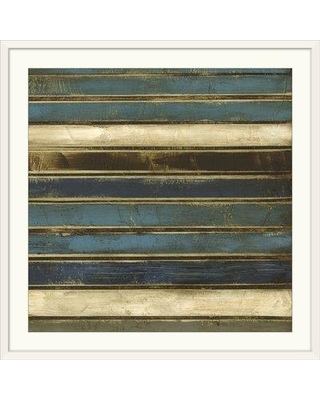 """Great Big Canvas 'Stacked II' Jennifer Goldberger Painting Print 1404195_1_ Size: 38"""" H x 38"""" W x 1"""" D Format: White Framed"""