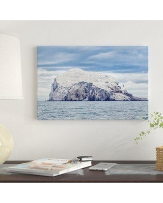 """East Urban Home 'Bass Rock' Graphic Art Print on Canvas EBHU6722 Size: 8"""" H x 12"""" W x 0.75"""" D"""