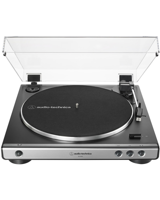 AudioTechnica AT-LP60X-GM Fully Automatic Belt-Drive Stereo Turntable (Gunmetal/Black)