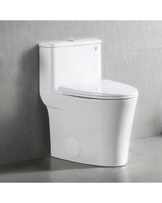 Amazing Sales On Deervalley Yodar 1 28 Gpf Water Efficient Elongated One Piece Toilet Seat Included In White Size 25 H X 15 W X 23 D Wayfair Dv 1f52807