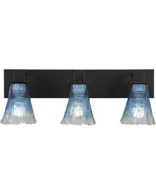 Shop Deals For Bloomsbury Market Coster Fluted 3 Light Vanity Light Shade Glass In Fluted Teal Size 8 H X 23 W X 6 D Wayfair Ae09fb7ef49a45f68998cbc7d2f565c7
