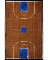 Supreme Basketball Court Blue and Brown 3 ft. x 4 ft. Area Rug