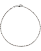 Giani Bernini Twist Rope Ankle Bracelet in 18k Gold-Plated Sterling Silver, also available in Sterling Silver, Created for Macy's