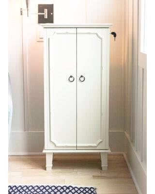 Here S A Great Deal On Enloe Free Standing Jewelry Armoire With Mirror Color White