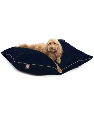 Majestic Pet Products Blue Cotton Rectangular Dog Bed (For Medium) Polyester | 788995653523