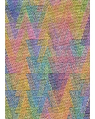 Special Prices On Dorning Patterned Pink Yellow Blue Area Rug Ebern Designs Rug Size Rectangle 2 X 4