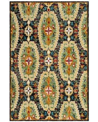 Bloomsbury Market Elford Hand-Knotted Wool Charcoal Area Rug BBMT3748 Rug Size: Rectangle 8' x 10'
