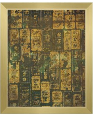 """Click Wall Art 'Aged Signs' Framed Graphic Art IND0000020FR Format: Gold Framed Size: 10.5"""" H x 12.5"""" W"""