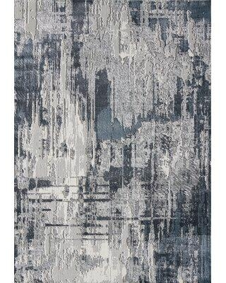 Great Prices For 17 Stories Boatright Abstract Gray Area Rug Polypropylene Polyester In Gray Silver Size Rectangle 5 3 X 7 6 Wayfair
