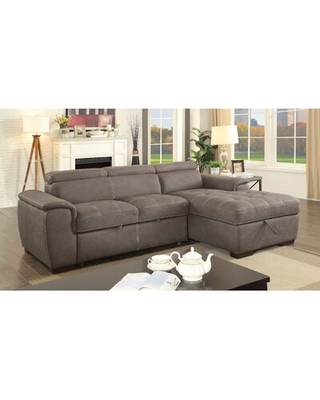 Discover Deals On Rossetti 96 Wide Right Hand Facing Sleeper Sofa Chaise Orren Ellis Fabric Ash Brown Faux Leather