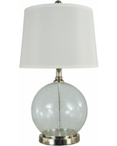 New Year Special Montego Bay Seeded Glass Netting Table Lamp