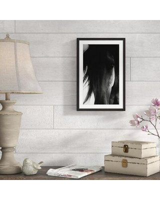 """Three Posts 'Shadow Horse' Framed Painting Print W001672125 Size: 36"""" H x 24"""" W x 1.5"""" D"""